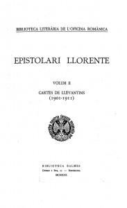 Epistolari Llorente