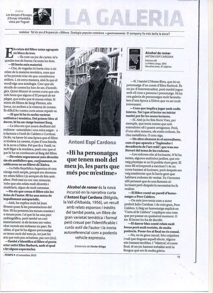 Retall El Temps Antoni Espi